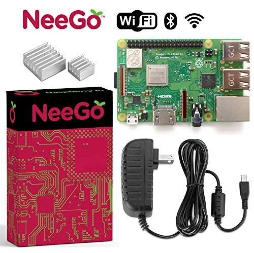 NEEGO Raspberry Pi 3 B+ B Plus 2.5A Power Supply & Heatsinks