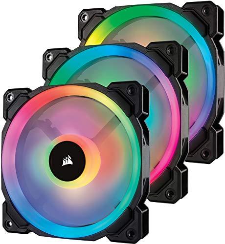 Corsair LL Series LL120 RGB 120mm Dual Light Loop RGB LED PWM Fan 3 Fan Pack with Lighting Node Pro Certified Refurbished