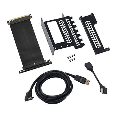 Black – HDMI + DisplayPort – CableMod Vertical PCI-e Bracket