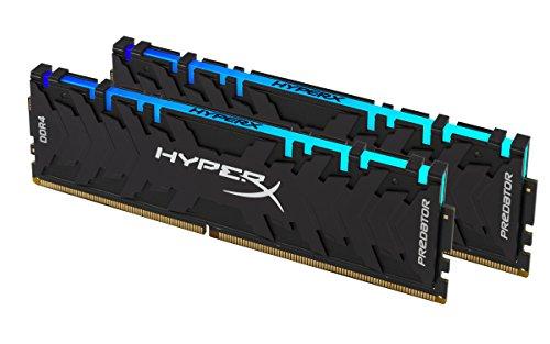 HyperX Predator DDR4 RGB 16GB kit 3200MHz CL16 DIMM XMP RAM Memory/Infrared Sync Technology Black HX432C16PB3AK2/16