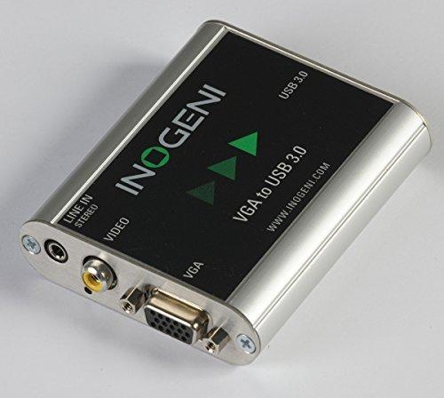 INOGENI VGA Composite to USB 3.0 Capture device with line audio
