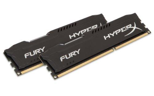 Black HX316C10FBK2/16 – Kingston HyperX FURY 16GB Kit 2x8GB 1600MHz DDR3 CL10 DIMM