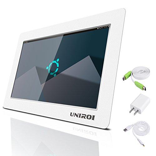 UNIROI 10.1 inch HDMI Monitor 1024 x 600 HD LCD Screen with Ultra-Slim Shell for Raspberry Pi 3 2 Model B+ 3B 2B B+ A+ A 10.1 inch Raspberry Pi Screen