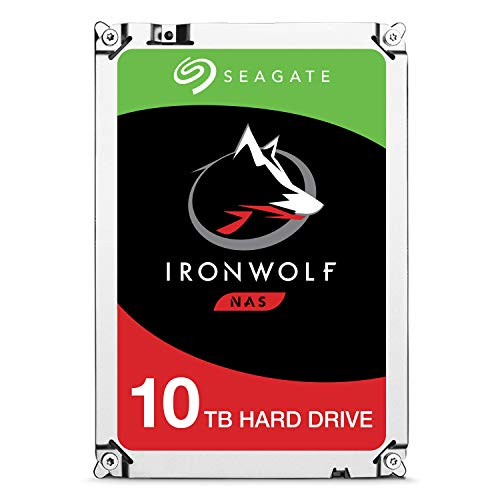 Seagate IronWolf NAS 7200RPM Internal SATA Hard Drive 10TB 6Gb/s 3.5-Inch – Frustration Free PackagingST10000VN0004