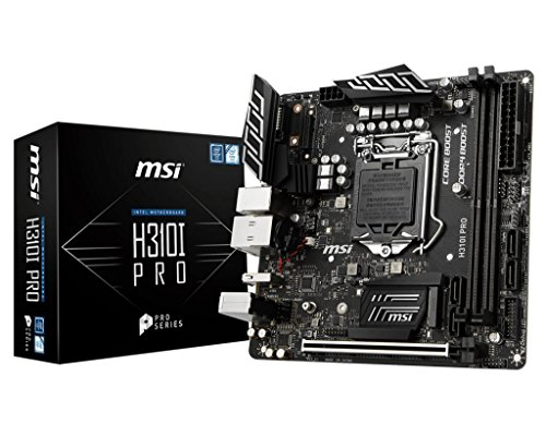 MSI Pro Series Intel Coffee Lake H310 LGA 1151 DDR4 Onboard Graphics Mini ITX Motherboard H310I PRO