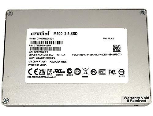 5 Year Warranty – Crucial M500 CT960M500SSD1 960GB 2.5-inch SATA III MLC 6.0Gb/s Internal Solid State Drive SSD
