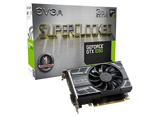 EVGA GeForce GTX 1050 SC Gaming, 3GB GDDR5, DX12 OSD Support PXOC Graphics Card 03G-P4-6153-KR