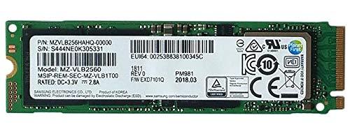 Samsung PM981 Polaris 256GB M.2 NGFF PCIe Gen3 x 4, NVME Solid state drive SSD, OEM 2280 MZVLB256HAHQ-00000