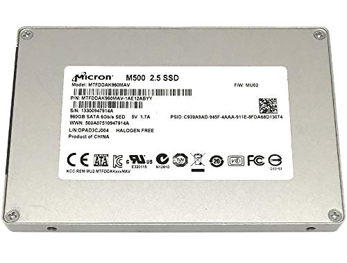 5 Years Warranty – Micron M500 960GB 2.5-inch SATA III MLC 6.0Gb/s Internal Solid State Drive SSD MTFDDAK960MAV
