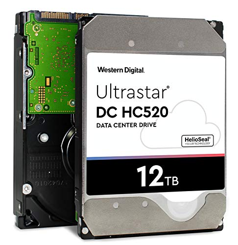 WD Ultrastar DC HC520 HDD | HUH721212ALE600 | 12TB 7.2K SATA 6Gb/s 256MB Cache 3.5-Inch | ISE 512e | 0F30144 | Helium Data Center Internal Hard Disk Drive – HGST
