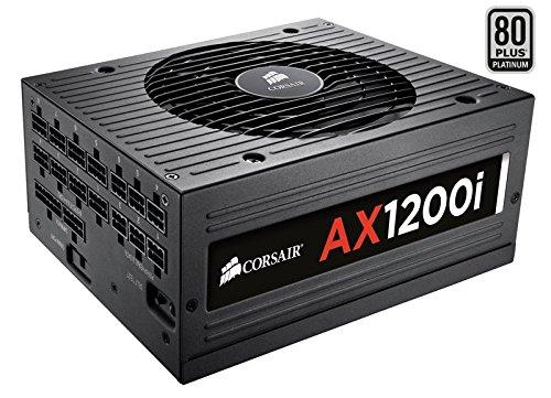 Corsair AXi Series, AX1200i, 1200 Watt 1200W, Fully Modular Digital Power Supply, 80+ Platinum Certified Certified Refurbished