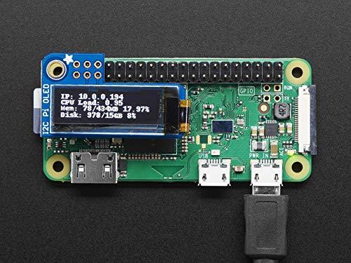 128×32 Monochrome OLED Add-on for Raspberry Pi – Adafruit 3527 PiOLED