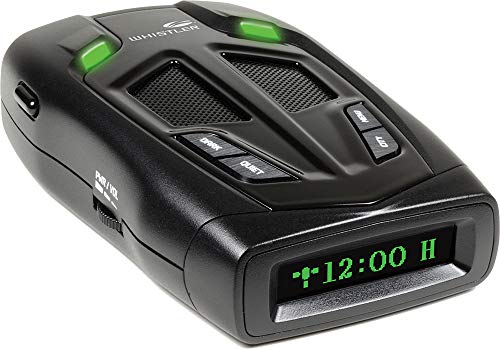 Whistler Z-31R+ Bilingual English/Spanish High Performance Radar Laser Detector with Real Voice Alerts and GPS Red-Light Camera Detection