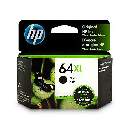 HP 64XL Black Ink Cartridge N9J92AN for HP ENVY Photo 6252 6255 6258 7155 7158 7164 7855 7858 7864 HP ENVY 5542