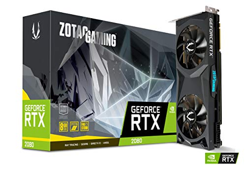 ZOTAC Gaming GeForce RTX 2080 Twin Fan 8GB GDDR6 256-bit Gaming Graphics Card, IceStorm 2.0 Cooling, Active Fan Control, Metal Backplate, Spectra Lighting, ZT-T20800G-10P