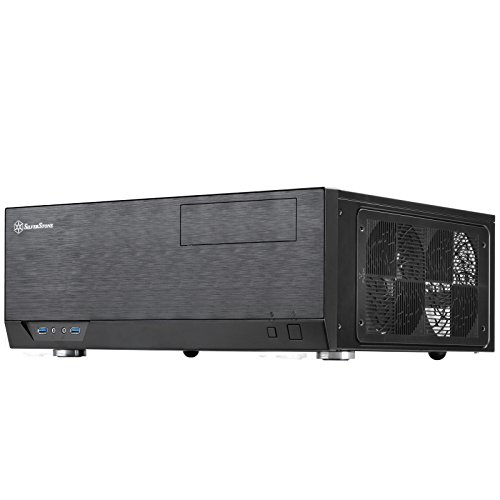 SilverStone Technology Home Theater Computer Case HTPC with Faux Aluminum Design for ATX/Micro-ATX Motherboards SST-GD09B-USA