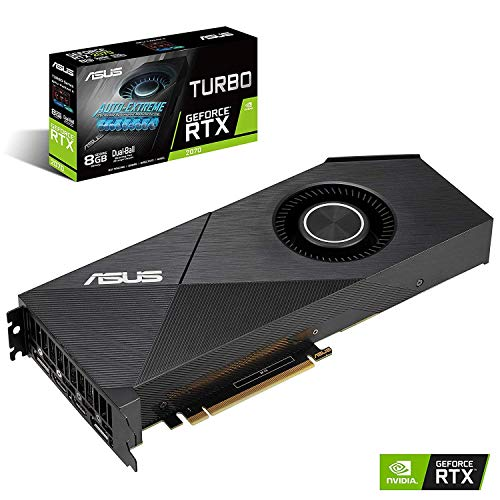 ASUS GeForce RTX 2070 8G EVO Turbo Edition GDDR6 HDMI DP 1.4 Graphics Card TURBO-RTX2070-8G-EVO