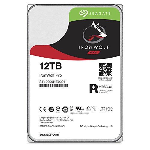 Seagate 12TB IronWolf Pro 7200RPM SATA 6Gb/s 256MB Cache 3.5-Inch NAS Hard Disk Drive ST12000NE0007