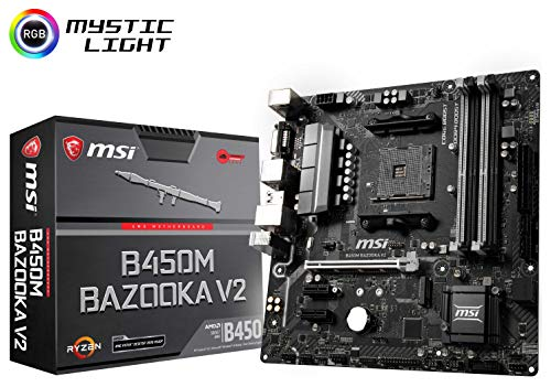 MSI Arsenal Gaming AMD Ryzen 1st and 2ND Gen AM4 M.2 USB 3 DDR4 DVI HDMI Micro-ATX Motherboard B450M Bazooka V2