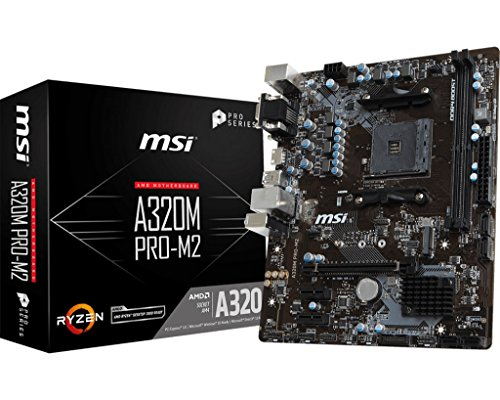 MSI ProSeries AMD Ryzen A320 DDR4 VR Ready USB 3 HDMI Micro-ATX Motherboard A320M PRO-M2
