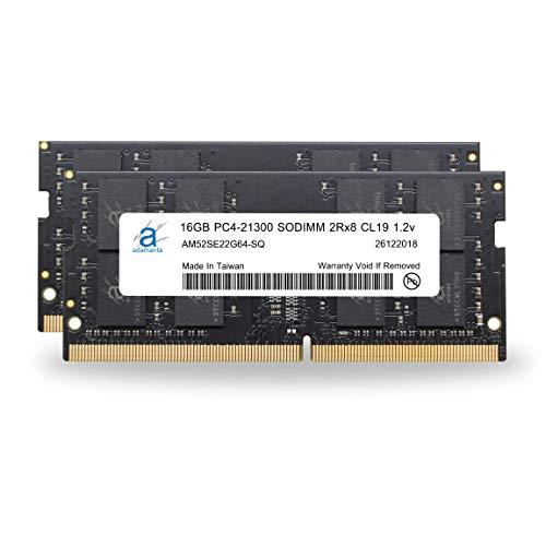 Adamanta 32GB 2x16GB Memory Upgrade for 2019 Apple iMac 27″ w/Retina 5K Display, Late 2018 Apple Mac Mini DDR4 2666Mhz PC4-21300 SODIMM 2Rx8 CL19 1.2v DRAM RAM