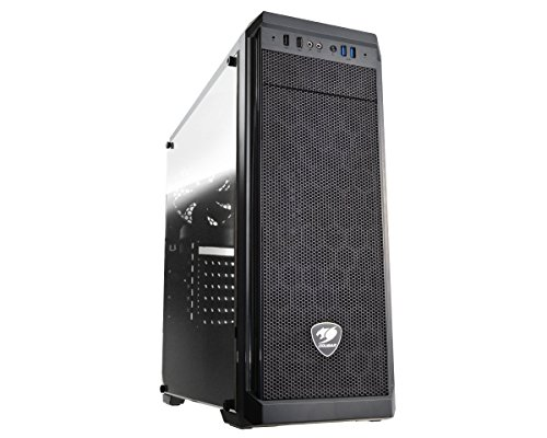 Cougar MX330-G MX330 Mid Tower Case with Full Tempered Glass Window and USB 3.0
