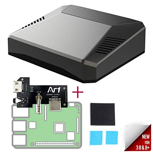 Argon One Mini Computer Case for Raspberry Pi 3 B+ / B | Aluminum Enclosure | Passive and Active Fan Cooling | Safe Shutdown with Power Button | Supports Retro Gaming, Movies, and Music