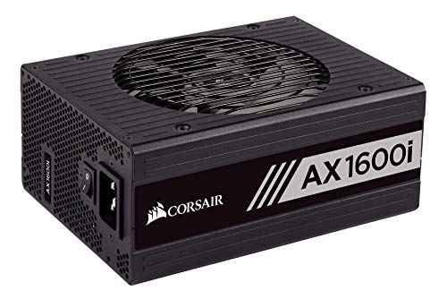 Digital Power Supply Renewed – CORSAIR AXi Series, AX1600i, 1600 Watt, 80+ Titanium Certified, Fully Modular