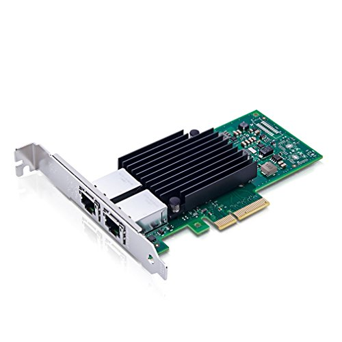 10Gtek for X550-T2, 10GbE Converged Network AdapterCNA/NIC, Copper Dual RJ45 Port, PCI Express v3.0 X4, Compatible to Intel X550-T2