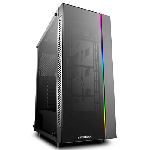 DEEPCOOL MATREXX 55 ADD-RGB Case, E-ATX Supported, Motherboard or Button Control of SYNC of 5V 3-pin Addressable RGB Devices of Any Brands, 4mm Full Sized Tempered Glass