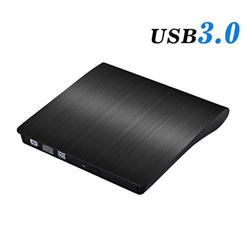 External CD Drive – Updated Version USB 3.0 Portable CD/DVD/-RW Drive Slim DVD/CD ROM Rewriter Burner Writer, High Speed Data Transfer for Laptop/Macbook/Desktop/MacOS/Windows10/8/7 Black