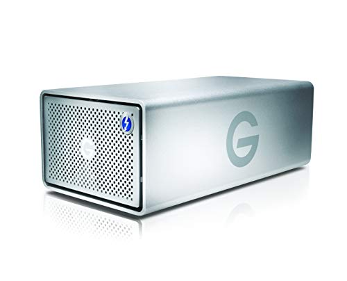 G-Technology 24TB G-RAID with Thunderbolt 3, USB-C USB 3.1 Gen 2, and HDMI, Removable Dual Drive Storage System, Silver – 0G05768