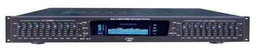 "Pyle-Pro PPEQ100 19"" Rack Mount Dual 10 Band 4 Source Input Stereo Spectrum Graphic Equalizer"