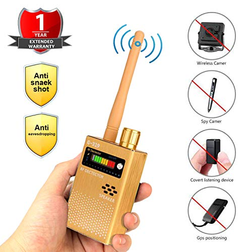 Eilimy Anti-Spy Wireless RF Signal Detector Set 2019 Latest Upgrade Bug GPS Camera Signal Detector,for Hidden Camera GSM Listening Device GPS Radar Radio Scanner Wireless Signal Device Finder