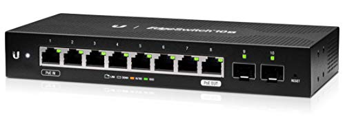 Ubiquiti EdgeSwitch 10X, 10-Port Gigabit Switch with Poe Passthrough ES-10X