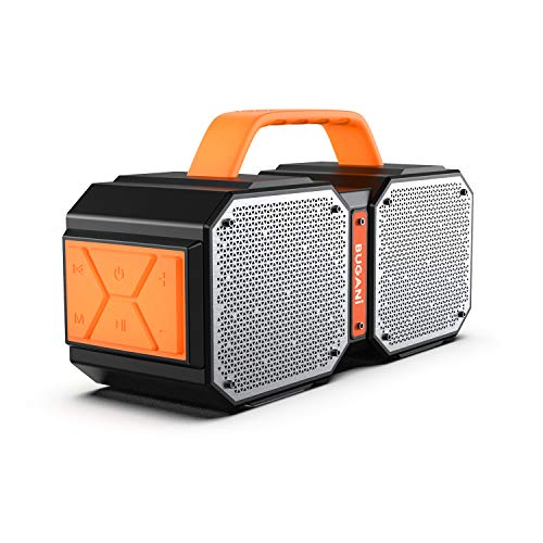 Bluetooth Speakers, Waterproof Outdoor Speakers Bluetooth 5.0,40W Wireless Stereo Pairing Booming Bass Speaker,2400 Minutes Playtime with 8000mAh Power Bank, Durable for Home Party,CampingBlack