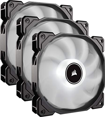White Cooling CO-9050082-WW – CORSAIR AF120 LED Low Noise Cooling Fan Triple Pack