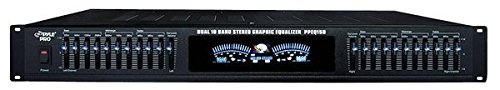 Pyle-Pro PPEQ150 19″ Rack Mount Dual 10 Band Stereo Graphic Equalizer