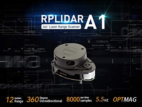 12M Range – RPLiDAR A1M8 360 Degree Laser Scanner Kit