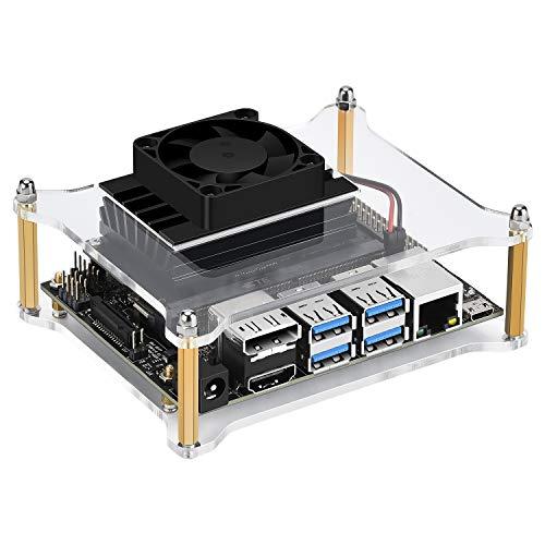 iUniker Jetson Nano Case, Jetson Nano Case with Fan Jetson Nano Fan NVIDIA Jetson Nano Case Cooling Fan Heatsink with Fan