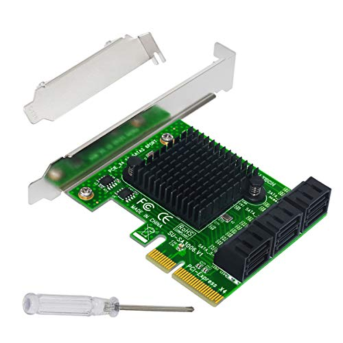 Expansion Card,Ubit Riser Card,PCIe 2.0 X2 to SATA III 6-Port Adapter Card ASM Chipset for IPFS Mining,Pci-e to SATA3.0 Expansion Card,SATA3.0 Riser Card 6G IPFS Hard Disk Expansion Card