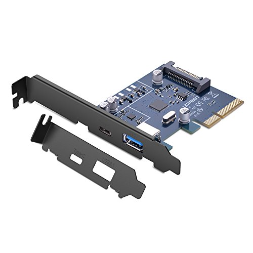 UGREEN PCI-E PCI Card Express to USB 3.1 Gen 2 10 Gbps Type A USB C Expansion Card Asmedia Chipset for Windows 7/8/8.1/10/Linux Type A+Type C Desktop PC