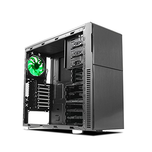 Deep Silence 3 Mid Tower ATX Case Beginner Friendly with Fully Modular Drive Cages, Black
