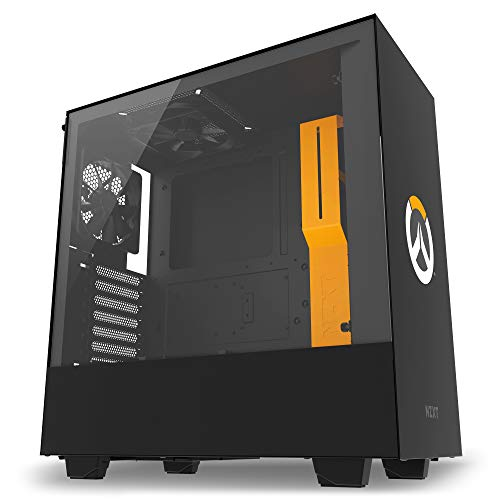 Water-Cooling Ready – Enhanced Cable Management System – NZXT H500 – Overwatch Edition – All-Steel Construction – Tempered Glass Panel – Compact ATX Mid-Tower PC Gaming Case – Light Up Overwatch Logo