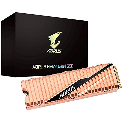 GIGABYTE AORUS NVMe Gen4 M.2 1TB PCI-Express 4.0 Interface High Performance Gaming, Full Body Copper Heat Spreader, Toshiba 3D NAND, DDR Cache Buffer, 5 Year Warranty SSD GP-ASM2NE6100TTTD
