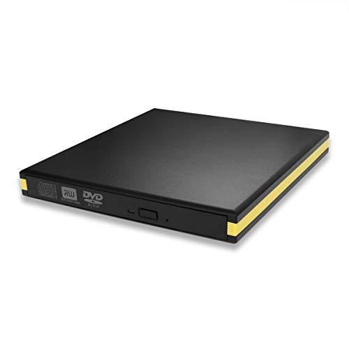 USB 3.0 External DVD Drive, BEVA Portable CD DVD Drive Player External Burner Reader Writer Disk for Laptop Desktop MacBook Mac OS Windows 10 8 7 XP Vista