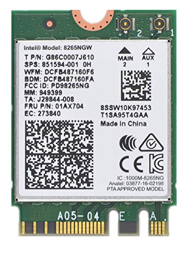 Dual Band Wireless- AC 8265 8265AC NGFF WiFi Card USE for Intel 8265 AC AC8265 8265NGW M.2 NGFF 2.4/5GHz Bluetooth 4.2 Wireless WiFi Card 867 Mbps
