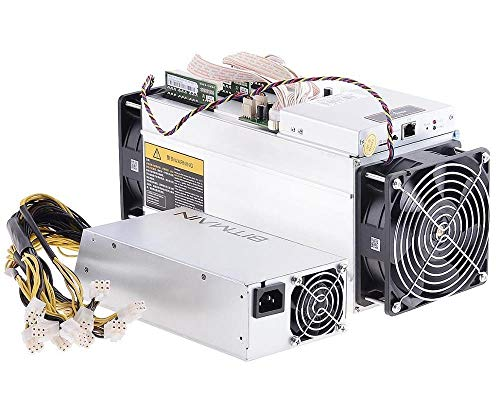 AntMiner Bitmain S9 Used New Condition Bitcoin Miner, 0.098 J/GH Power Efficiency, 13.5TH/s with Power Supply and Cord