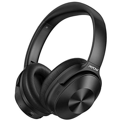 Mpow H12 Hybrid Active Noise Cancelling Headphones, Bluetooth Headphones Over Ear 2019 Version with Hi-Fi Deep Bass, CVC 6.0 Microphone, Soft Protein Earpads, 30H Playtime for TV Travel Work