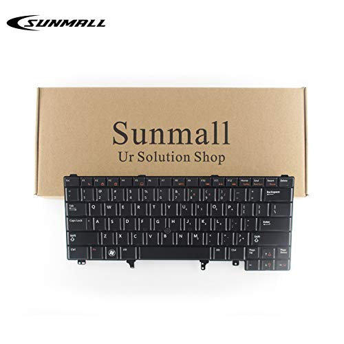 SUNMALL Replacement Keyboard with Backlit Compatible with Dell Latitude E5420 E5430 E6220 E6320 E6330 E6420 E6430 E6440 Series US Layout with Pointer Stick
